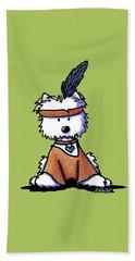 Westie Pocahontas Beach Towel