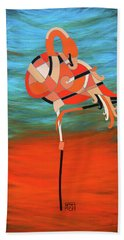 An Elegant Flamingo Beach Towel