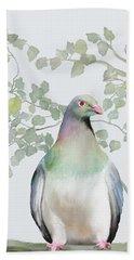 Wood Pigeon Beach Towel by Ivana Westin