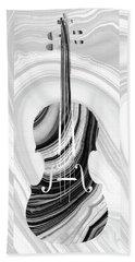 Marbled Music Art - Violin - Sharon Cummings Beach Towel by Sharon Cummings