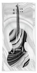 Marbled Music Art - Violin - Sharon Cummings Beach Sheet by Sharon Cummings