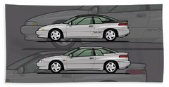 Subaru Alcyone Svx Duo Liquid Silver Beach Towel