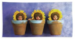Sunflower Pots Beach Towel