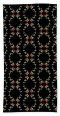 Birds Of Paradise Pattern Beach Towel