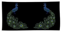 Jeweled Peacock Beach Towel