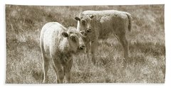 Beach Towel featuring the photograph Pair Of Baby Buffalos by Rebecca Margraf