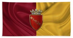 Coat Of Arms Of Rome Over Flag Of Rome Beach Towel