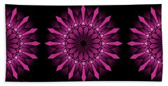 Ombre Pink Flower Mandala Beach Towel
