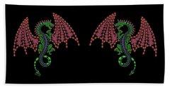 Jeweled Dragon Beach Towel
