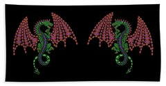 Jeweled Dragon Beach Towel