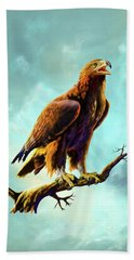 Golden Eagle Beach Towel by Anthony Mwangi