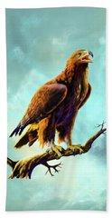Golden Eagle Beach Sheet by Anthony Mwangi