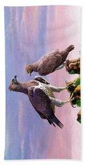 Martial Eagles Beach Sheet by Anthony Mwangi