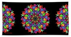 Stained Glass Mandala Beach Towel