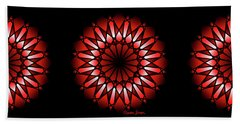 Burnt Umber Wonder Mandala Beach Towel