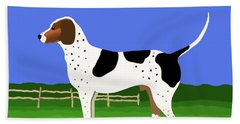 German Shorthaired Pointer In A Field Beach Sheet by Marian Cates