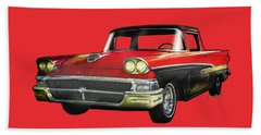 1958 Ford Ranchero 1st Generation Beach Towel