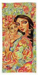 Beach Towel featuring the painting Goddess Blessing by Eva Campbell
