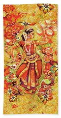 Beach Towel featuring the painting Ganges Flower by Eva Campbell