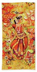 Ganges Flower Beach Towel