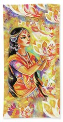 Pray Of The Lotus River Beach Towel
