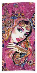 Beach Towel featuring the painting Kumari by Eva Campbell