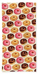 Donut Pattern Beach Towel