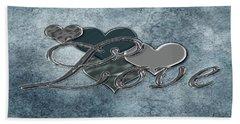 Silver Love Beach Sheet