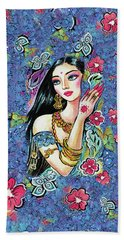 Beach Towel featuring the painting Gita by Eva Campbell