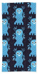 Undiscovered Blue Cute Sea Creature Beach Sheet