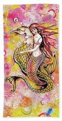 Black Sea Mermaid Beach Towel