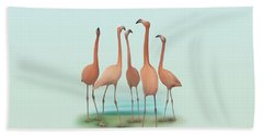 Flamingo Mingle Beach Sheet