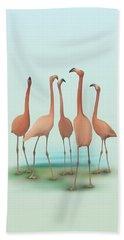 Flamingo Mingle Beach Towel by Ivana Westin