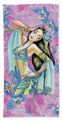 Beach Towel featuring the painting Amrita by Eva Campbell