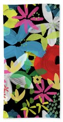 Beach Sheet featuring the painting Nocturnal Garden- Art By Linda Woods by Linda Woods
