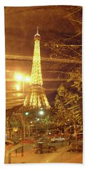 Eiffel Tower By Bus Tour Beach Sheet