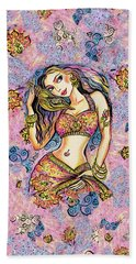 Beach Towel featuring the painting Karishma by Eva Campbell