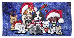 Kiniart Christmas Party Beach Towel