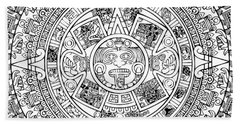Aztec Sun Beach Sheet by Taylan Apukovska