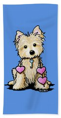 Heartstrings Cairn Terrier Beach Towel