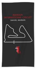 The Bahrain International Circuit Beach Towel