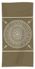 Ecru Mandala Beach Towel