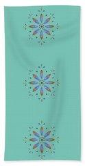 Teal Flower Beach Towel