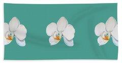 Orchid On Green Beach Sheet