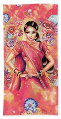 Beach Towel featuring the painting Devika Dance by Eva Campbell