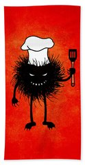 Evil Bug Chef Loves To Cook Beach Towel
