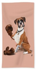 The Boxer Colour Beach Towel by Rob Snow