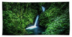 Beach Towel featuring the photograph Jungle Waterfall by Nicklas Gustafsson
