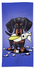 Dapple Doxie Destroyer Beach Towel