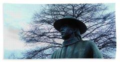 Austin Hike And Bike Trail - Iconic Austin Statue Stevie Ray Vaughn - Two Beach Sheet